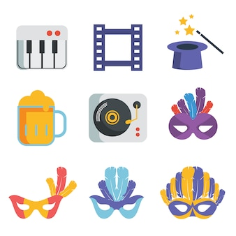 Party icons collection
