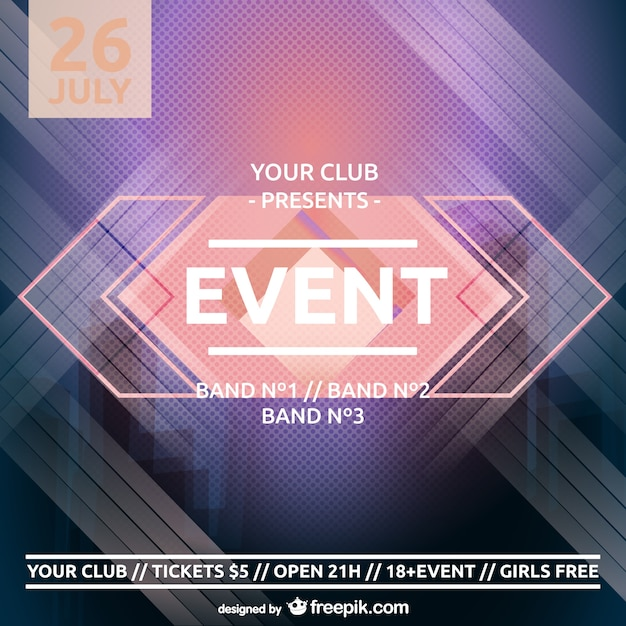 Spring party poster Vector | Free Download