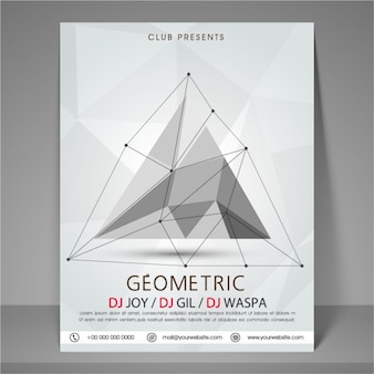 Party poster template in geometric style