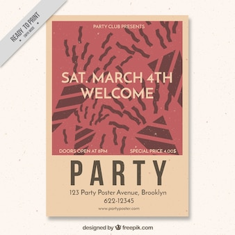 Party poster template in vintage style