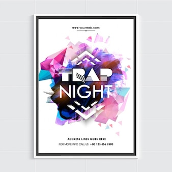 Party poster template with geometric forms