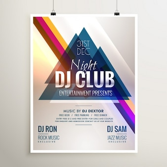 Party poster triangles