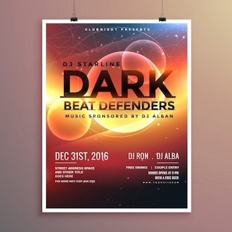 Party poster with a futuristic theme