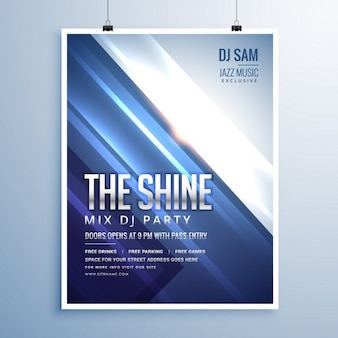 Party poster with bright lines