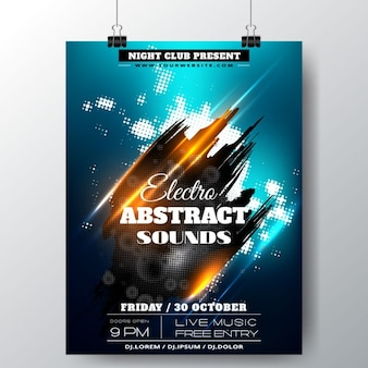 Party poster with expressive lines