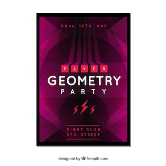 Party poster with geometric style