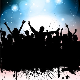 Party Silhouette Background