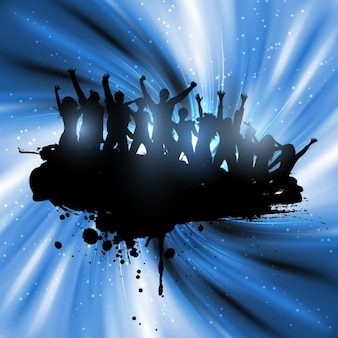 Party Silhouettes Background