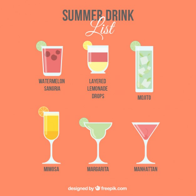 Summer vectors 3 200 free files in ai eps svg format for Summer drinks for party