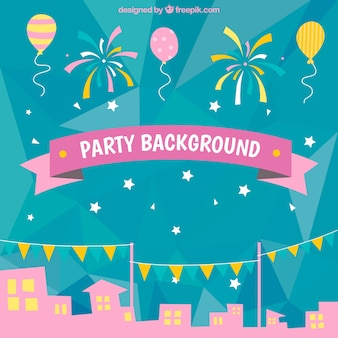 Party town background