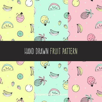 Pastel color fruit pattern collection