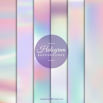 Pastel colors hologram background