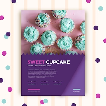 Pastry shop brochure template