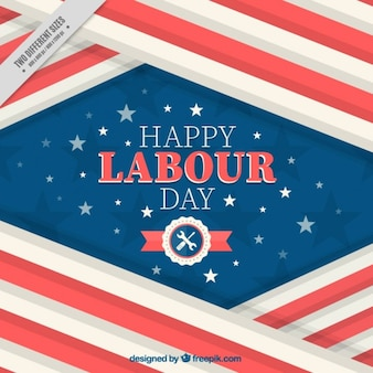 Patriotic labor day background