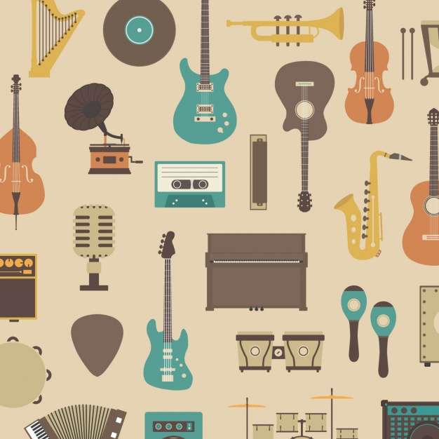 Pattern about musical instruments