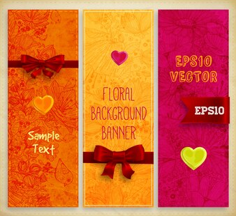 Pattern banner abstract love holiday