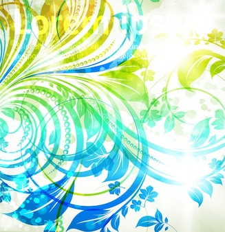 Pattern elements light abstract decorative