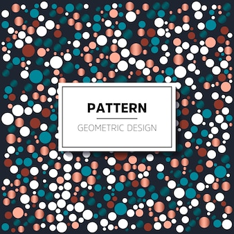 Pattern of colored circles in vintage style