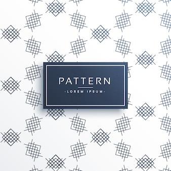 Pattern of geometric lines