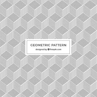 Pattern of geometric shapes with lines