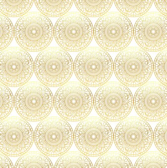 Pattern of golden mandalas