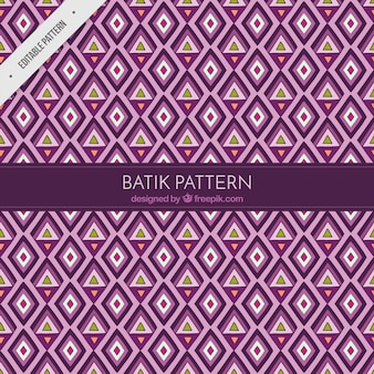 バティックスタイルでひし形や三角形のパターン