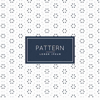 Pattern with circles and floral shapes