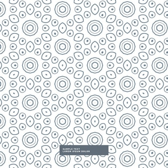 Pattern with circular shapes on a white background