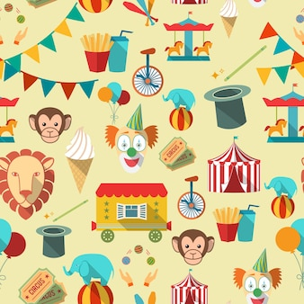 Pattern with circus elements