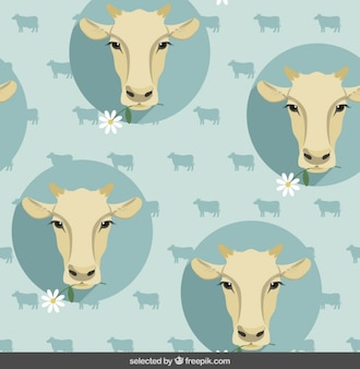 Pattern with cow heads