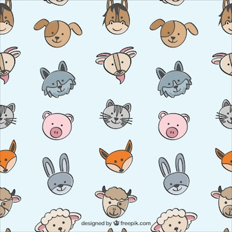 Pattern with cute animals