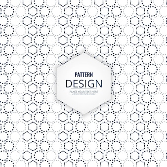 Pattern with dotted geometric shapes