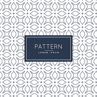 Pattern with floral shapes