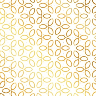 Pattern with golden leaves
