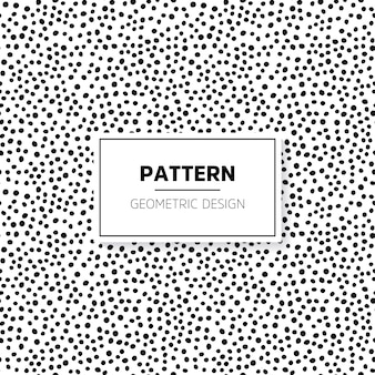 Pattern with hand drawn small dots