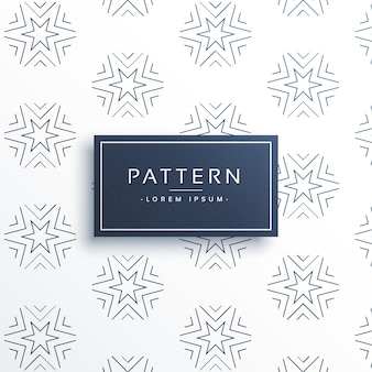 Pattern with linear stars