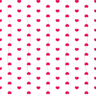 Pattern with pink hearts