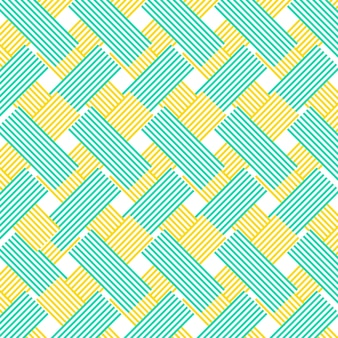 Pattern with striped shapes