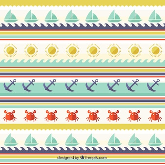 Pattern with summer and sailor elemments