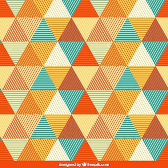Pattern with triangles