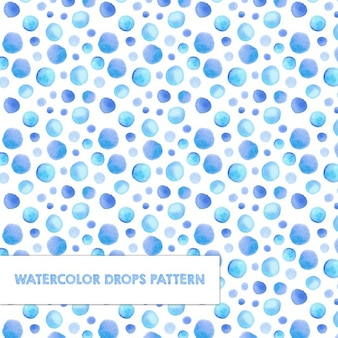 Pattern with watercolor drops
