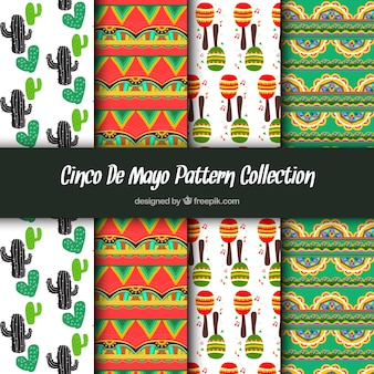 Patterns of colors with mexican elements