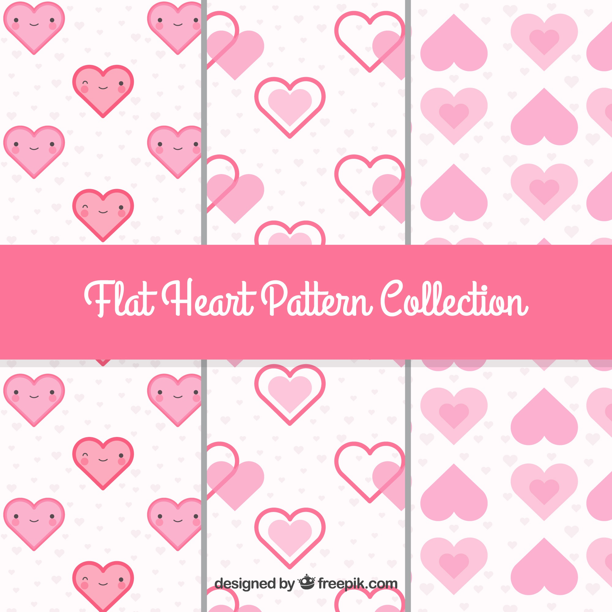 Patterns of decorative hearts