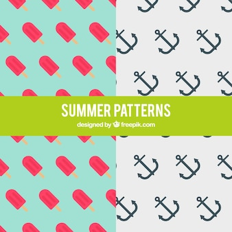 Patterns of ice-cream and anchor