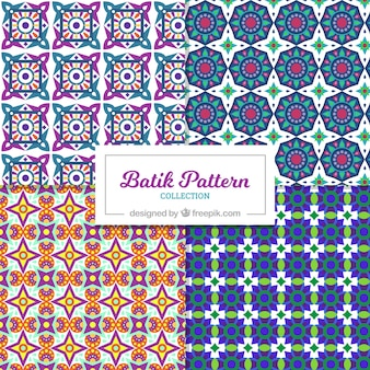 Patterns set of batik geometric shapes