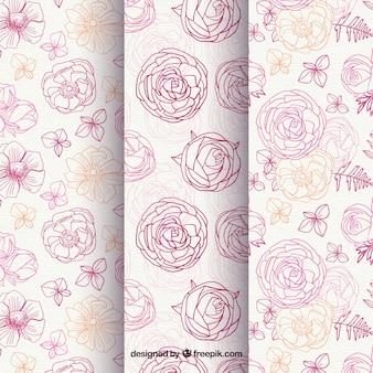 バラの模様のスケッチ