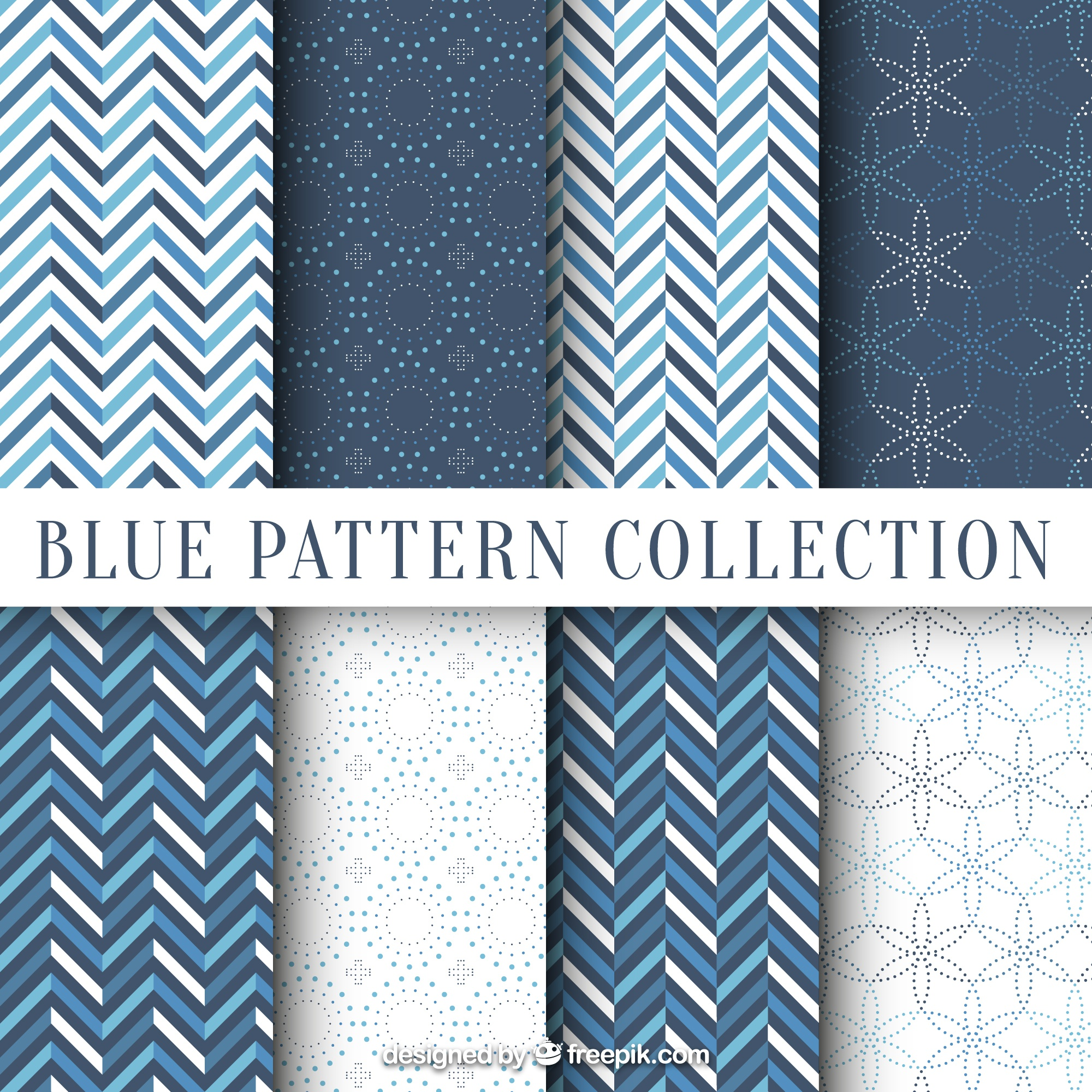 Patterns with cute geometric shapes