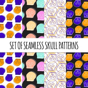 Patterns with skulls for halloween