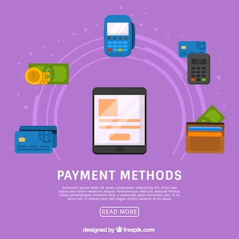 Payment methods with tablet