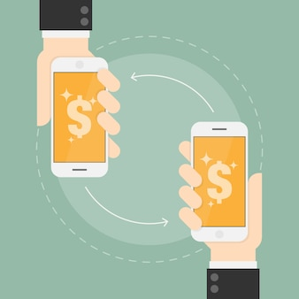Payment transfer on mobile phones
